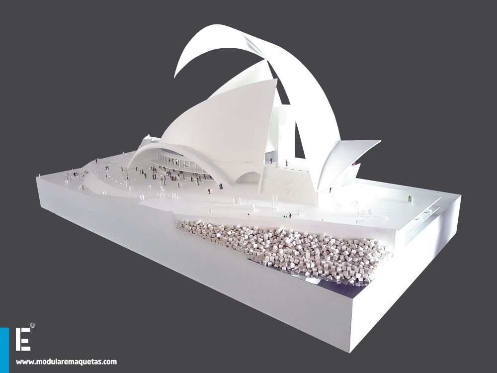 TENERIFE AUDITORIUM, SECTION MODEL